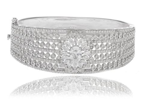 Flower Design Bridal Bangle