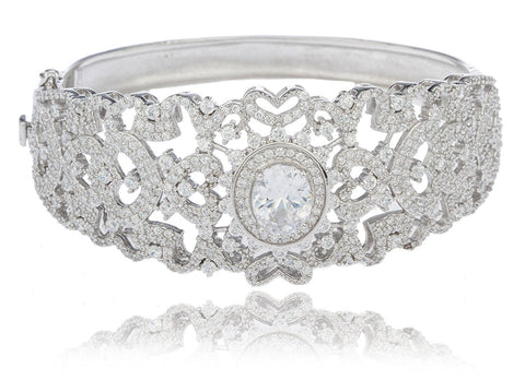 Plated Round Design Bridal Bangle