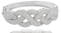 Thick Braided Design Bridal Bangle