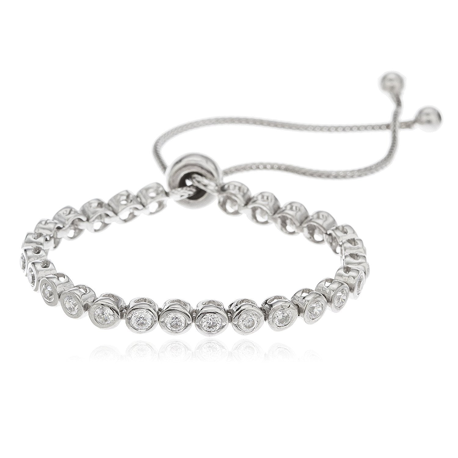 plated women for silver p bracelet cubic wholesale geometric trendy zirconia