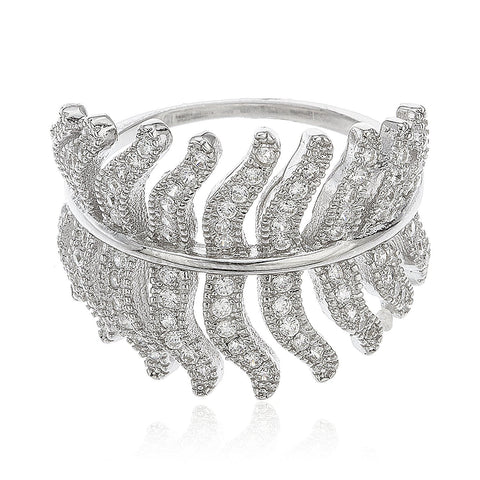 Iced Out Leaf Ring