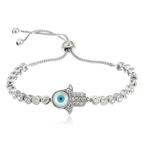 Hamsa with Eye Bezel Bracelet