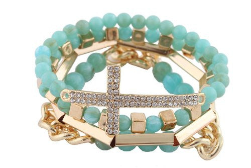 Turquoise With Goldtone 4 Piece Bundle...