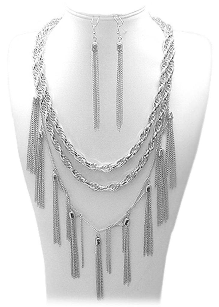 Twisted Rope Chain Necklace With Link...