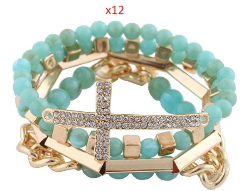 Wholesale 12 Pieces Of Turquoise With...