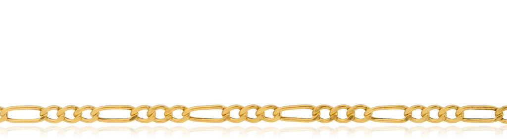 14k Yellow Gold 1.9mm Figaro Chain...