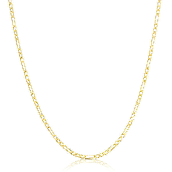 Golden Pave Figaro Chain 3.5mm