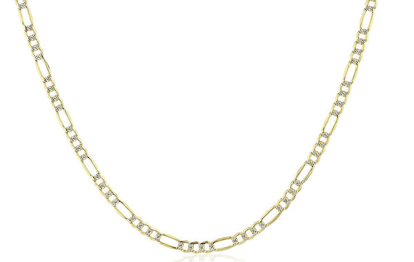 Golden Pave Figaro Chain 4mm