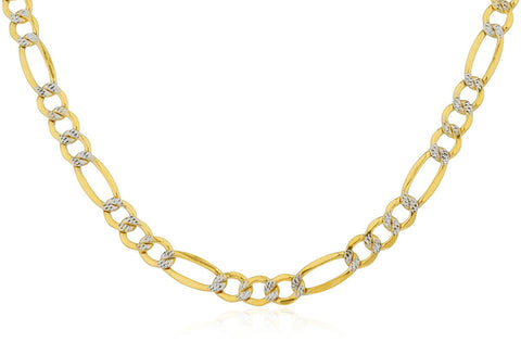 Golden Pave Figaro Chain 6.8mm