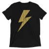 Lightning Strikes Yellow Bolt Tee