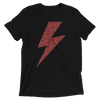 Lightning Strikes Red Bolt Tee