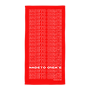 Made to Create Towel (Red)