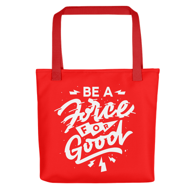 Force for Good Tote (Red & Black)