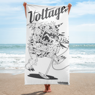 Monster Beach Blanket (White)