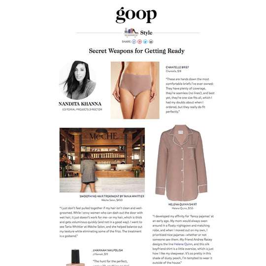 Helena Quinn featured on GOOP!