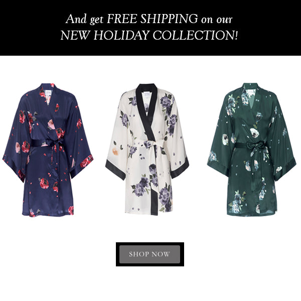 Helena Quinn Silk Robes / / Black Friday
