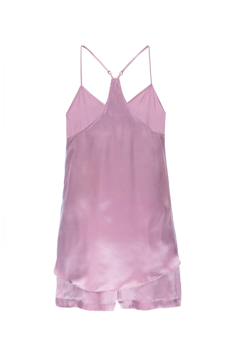 Silk Charmeuse Tank: Orchid Pink