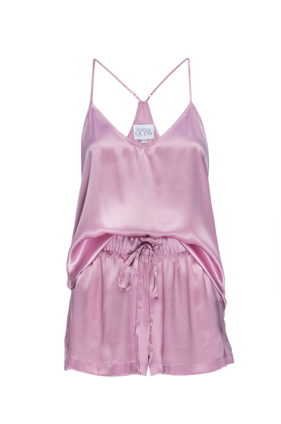 Silk Charmeuse Tank + Short Set: Orchid Pink