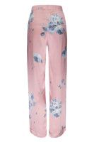 Silk Charmeuse PJ Pants: Rose Gold Floral Print