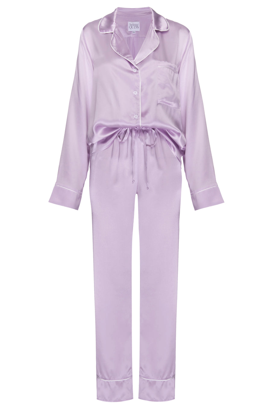 Silk Charmeuse Pants: Lilac