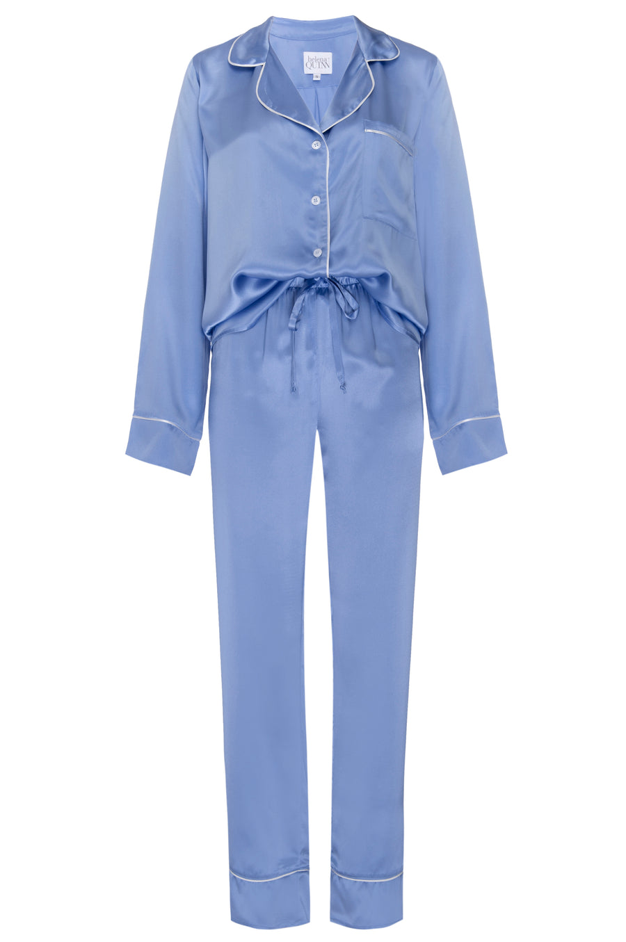 Silk Charmeuse Pants: Sky Blue