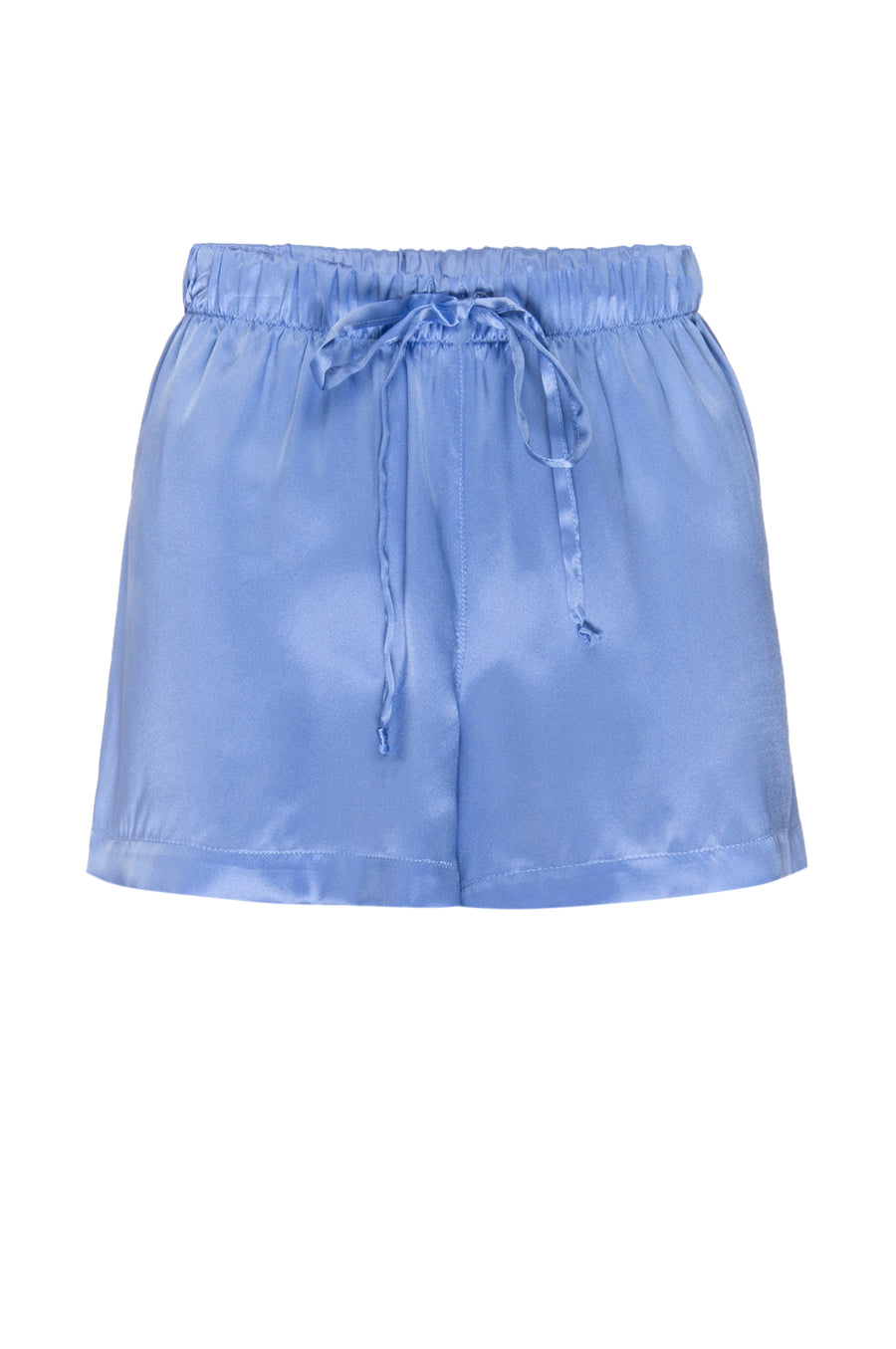 Silk Charmeuse PJ Shorts: Sky Blue