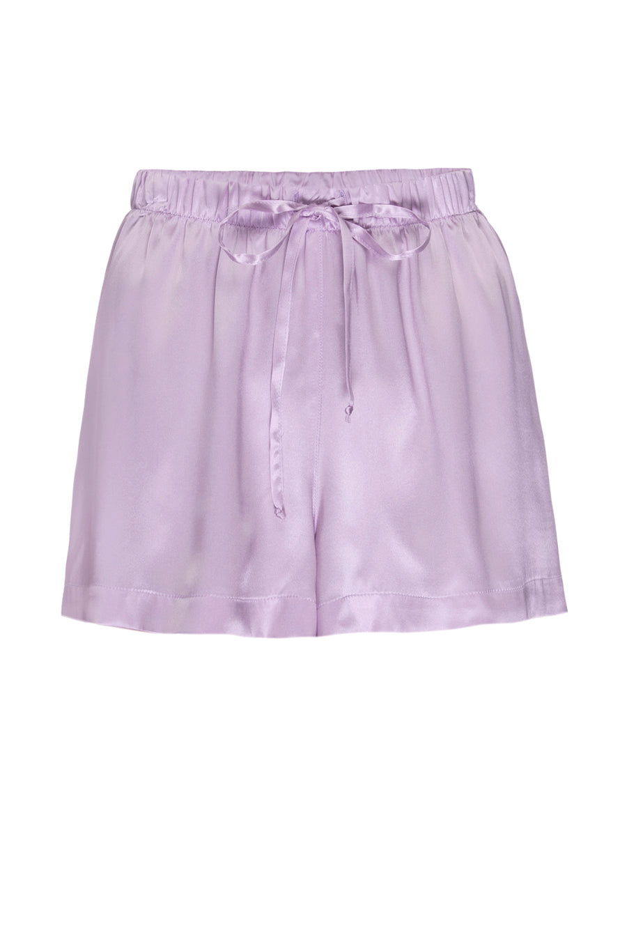 Silk Charmeuse PJ Shorts: Lilac