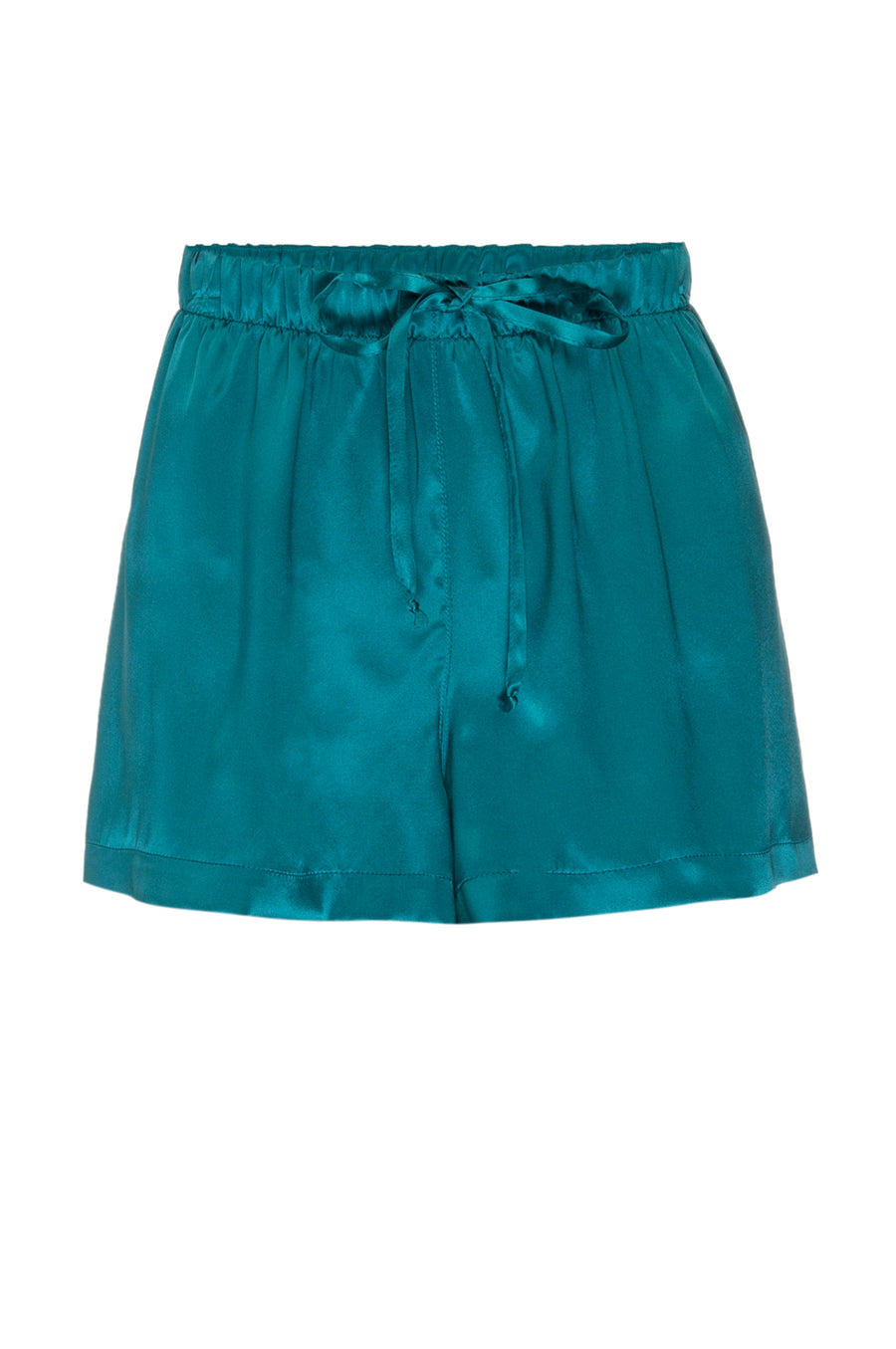 Silk Charmeuse PJ Shorts: Emerald