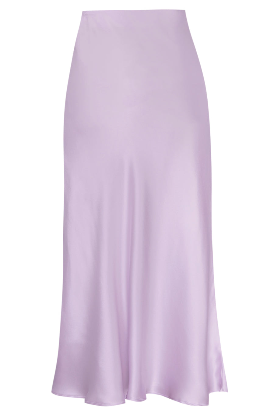 Silk Charmeuse 'Katie' Bias Skirt: Lilac