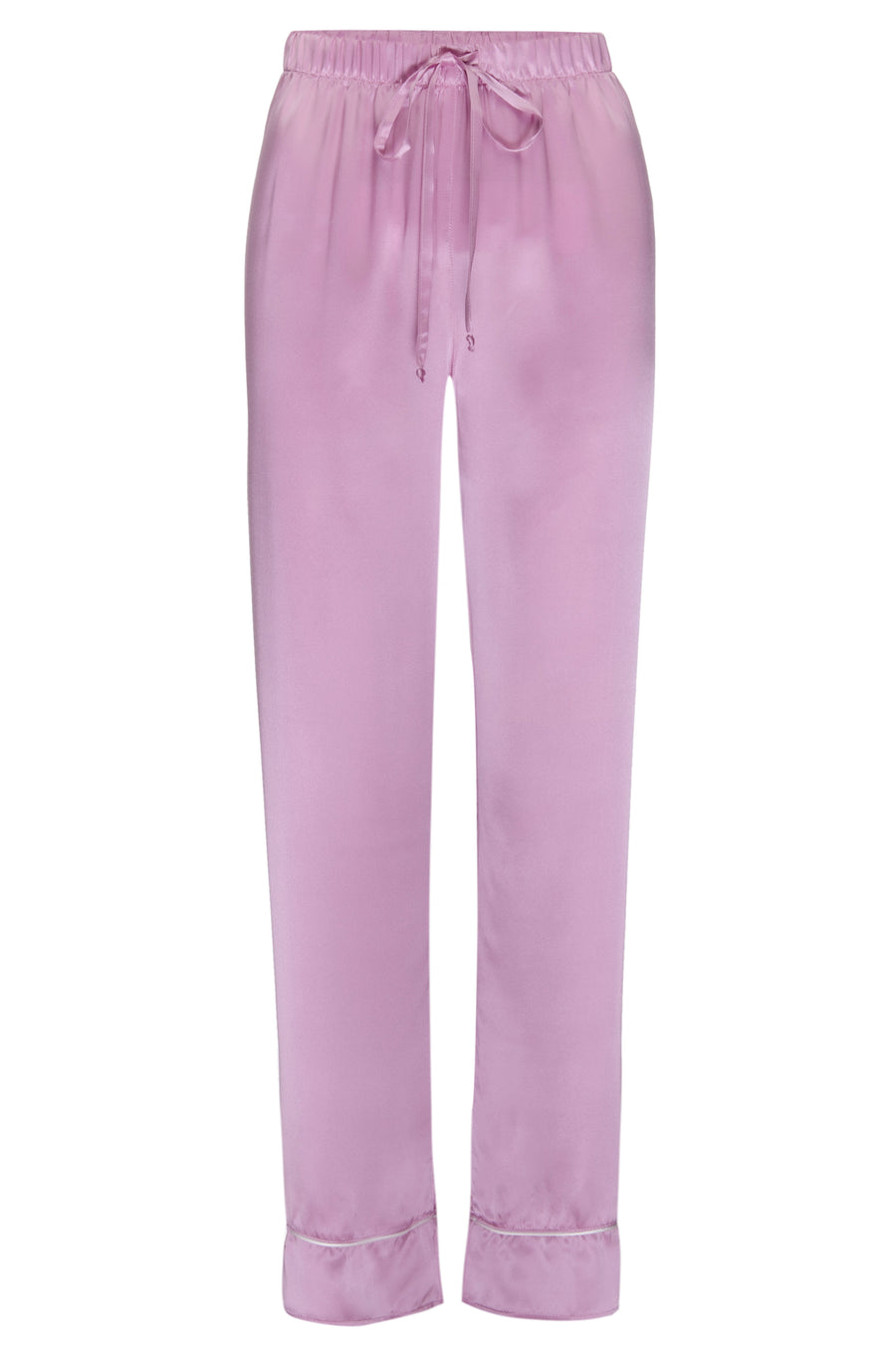 Silk Charmeuse PJ Pants: Orchid Pink