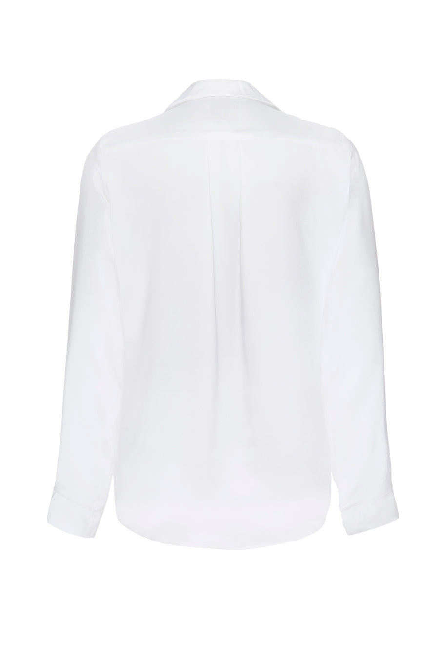 Silk Charmeuse Long Sleeved Top: Ivory