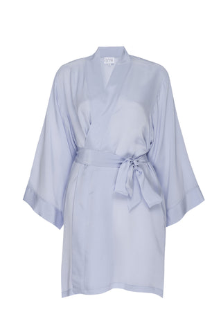 """COCO"" SILK ROBE- Ice Blue"