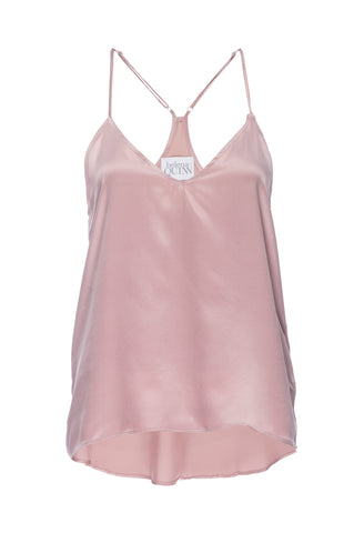 "NEW: ""Cara"" Pajama Tank in 'Rose Gold' Silk Charmeuse"