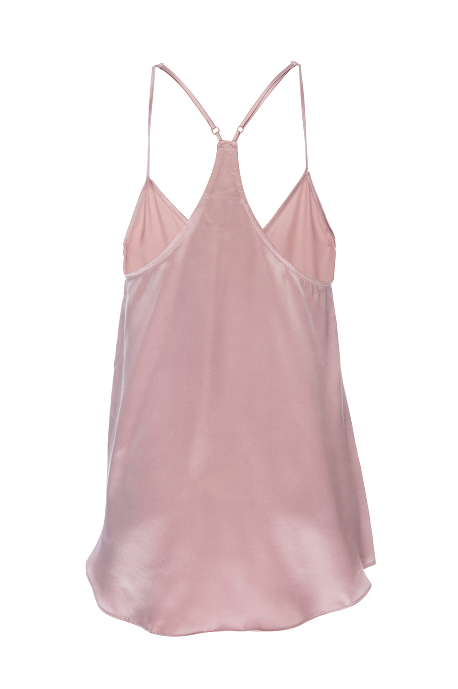Silk Charmeuse Tank: Rose Gold
