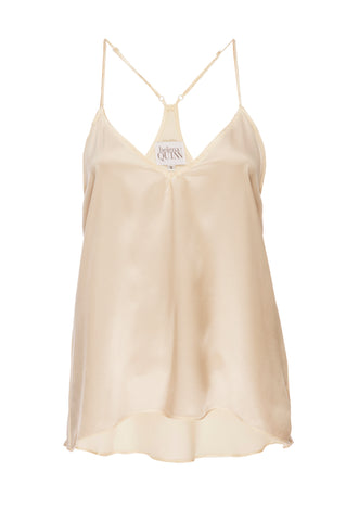"NEW: ""Cara"" Pajama Tank in 'Butter' Yellow Silk Charmeuse"
