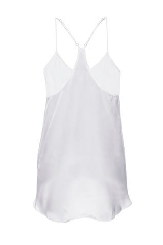 "NEW: ""Cara"" Pajama Tank in 'White' Silk Charmeuse"