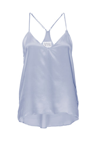 "PRE ORDER: New ""Cara"" Pajama Tank in 'Ice Blue' Silk Charmeuse"