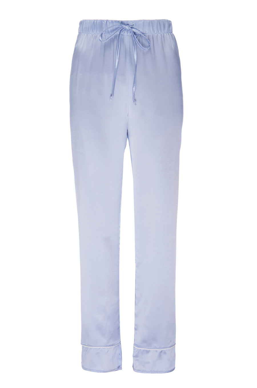 Silk Charmeuse Pant: Ice Blue