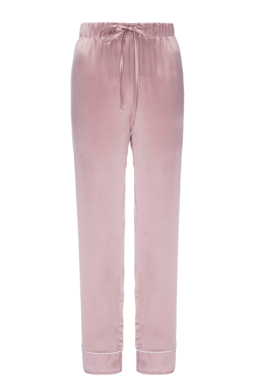 Silk Charmeuse Pants: Rose Gold