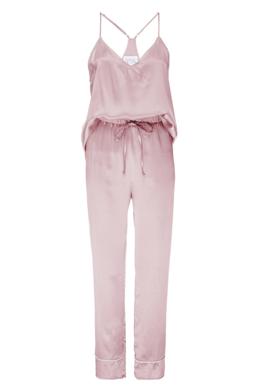 Silk Charmeuse Tank + Pant Set: Rose Gold