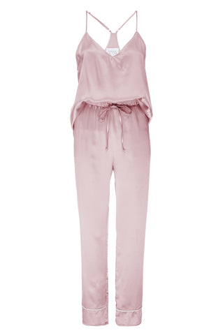 NEW: Tank and Pant Set in 'Rose Gold' Silk Charmeuse