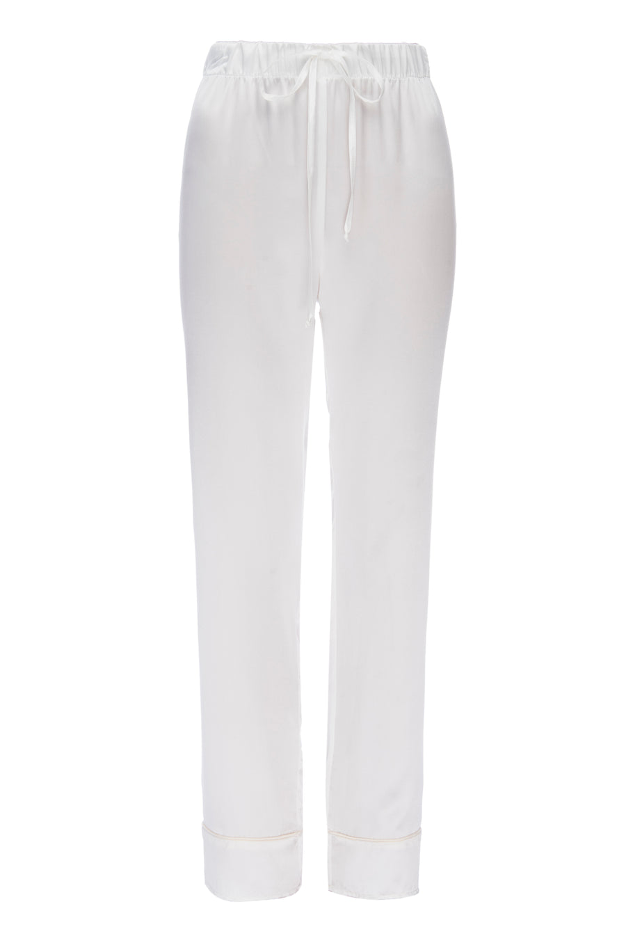 Silk Charmeuse Pants: Ivory