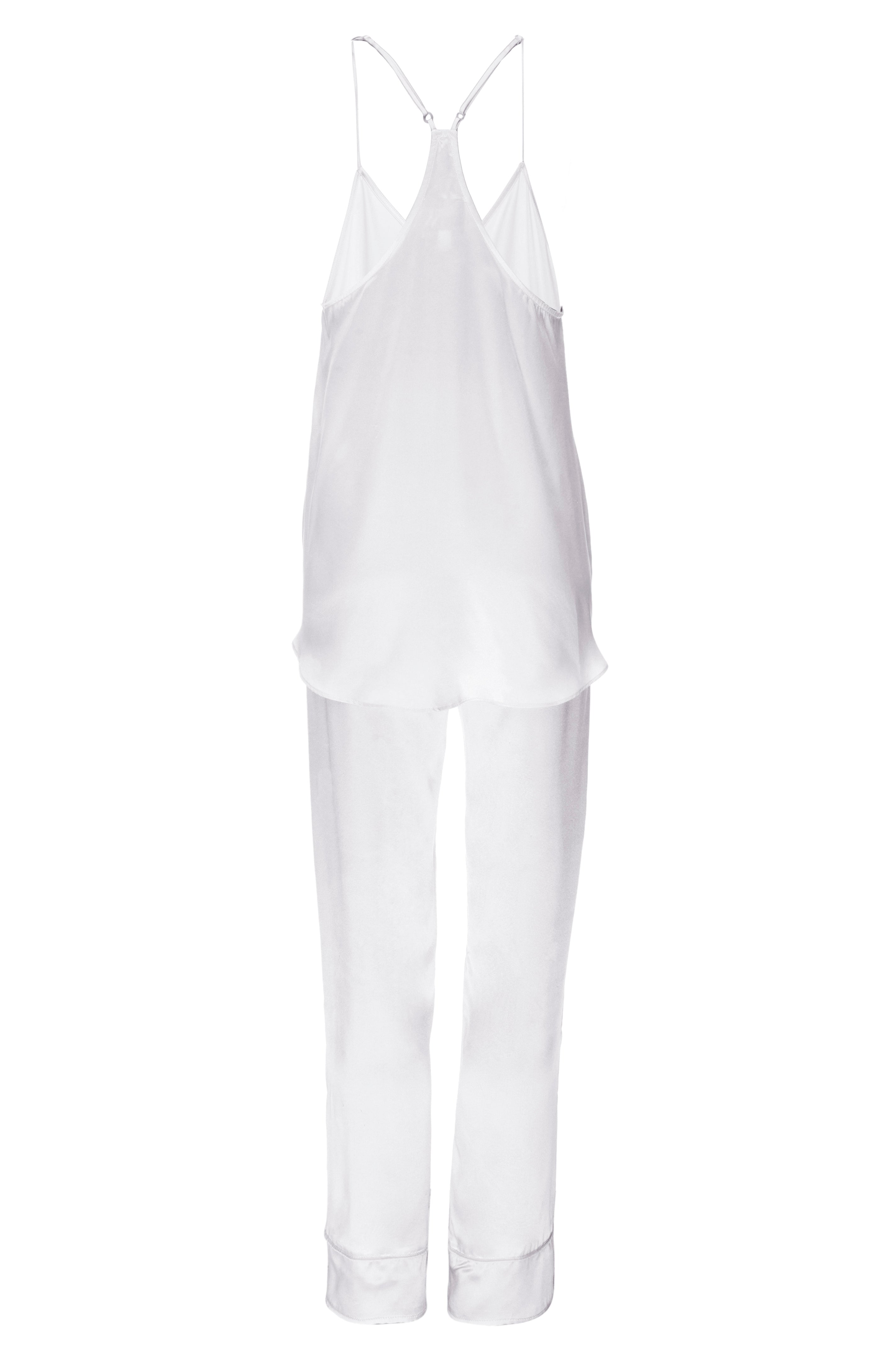 NEW: Tank and Pant Set in 'White' Silk Charmeuse