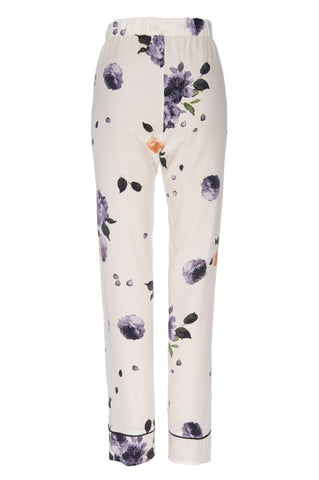 "NEW: ""Joey"" Pajama Pant in Garden Floral Print Silk"