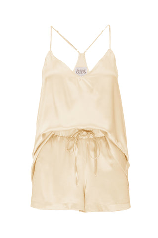 NEW: Tank and Short Set in 'Butter Yellow' Silk Charmeuse