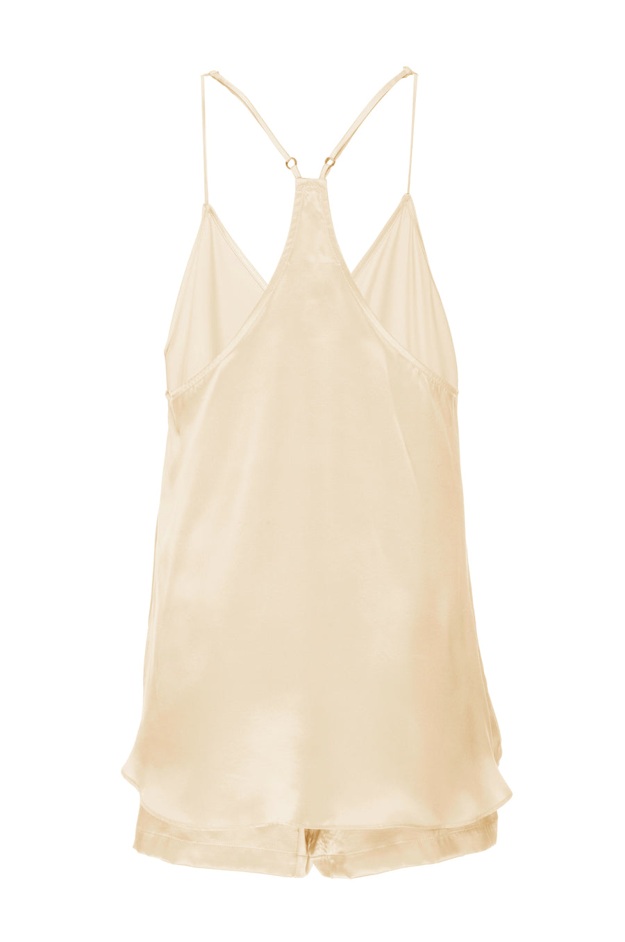 Silk Charmeuse Tank + Short Set: Butter Yellow