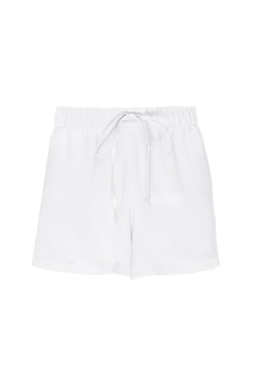 Silk Charmeuse Shorts:  Ivory
