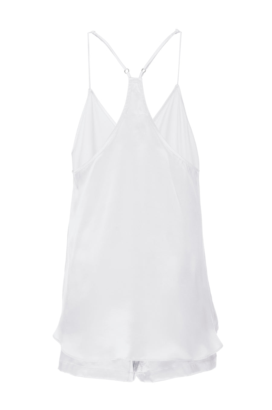 Silk Charmeuse Tank + Short Set: Ivory