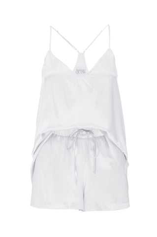 NEW: Tank and Short Set in 'White' Silk Charmeuse