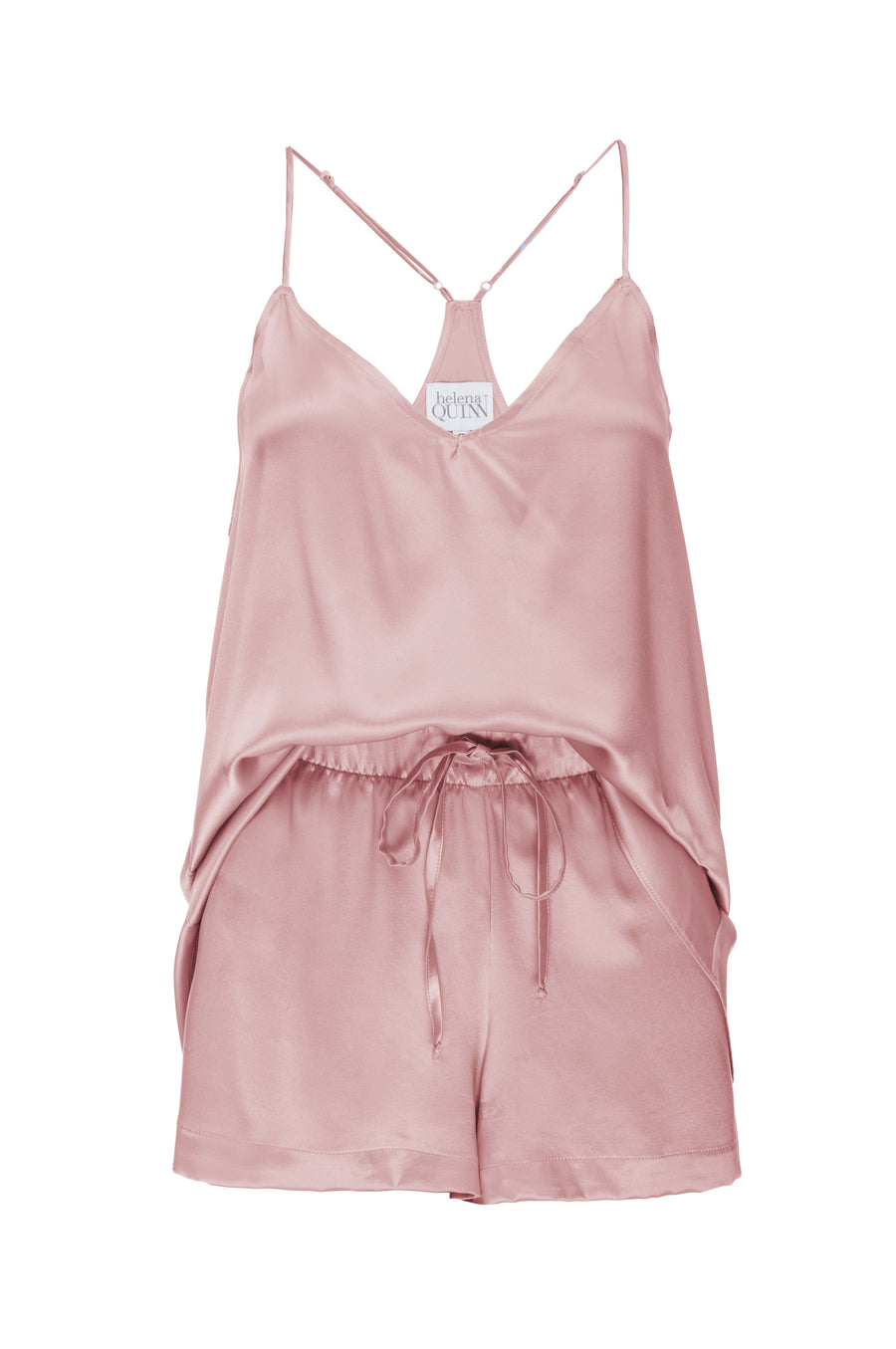 Silk Charmeuse Tank + Short Set: Rose Gold